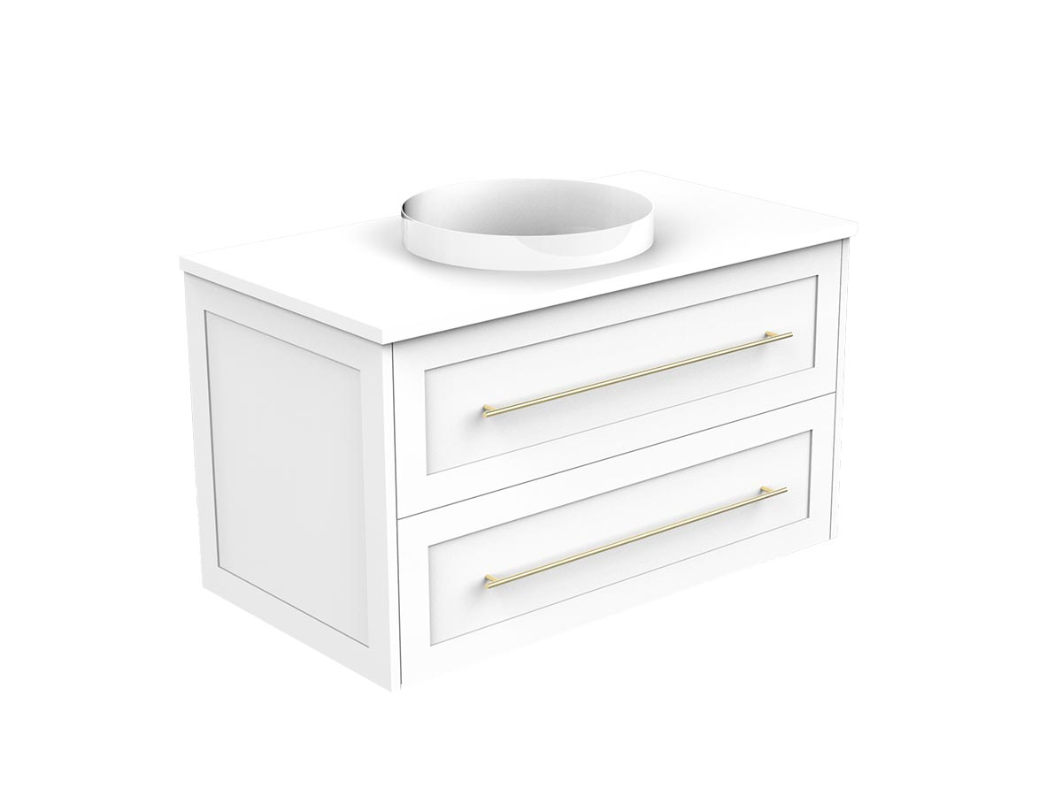 kado lux 900 wall hung 2 drawer vanity