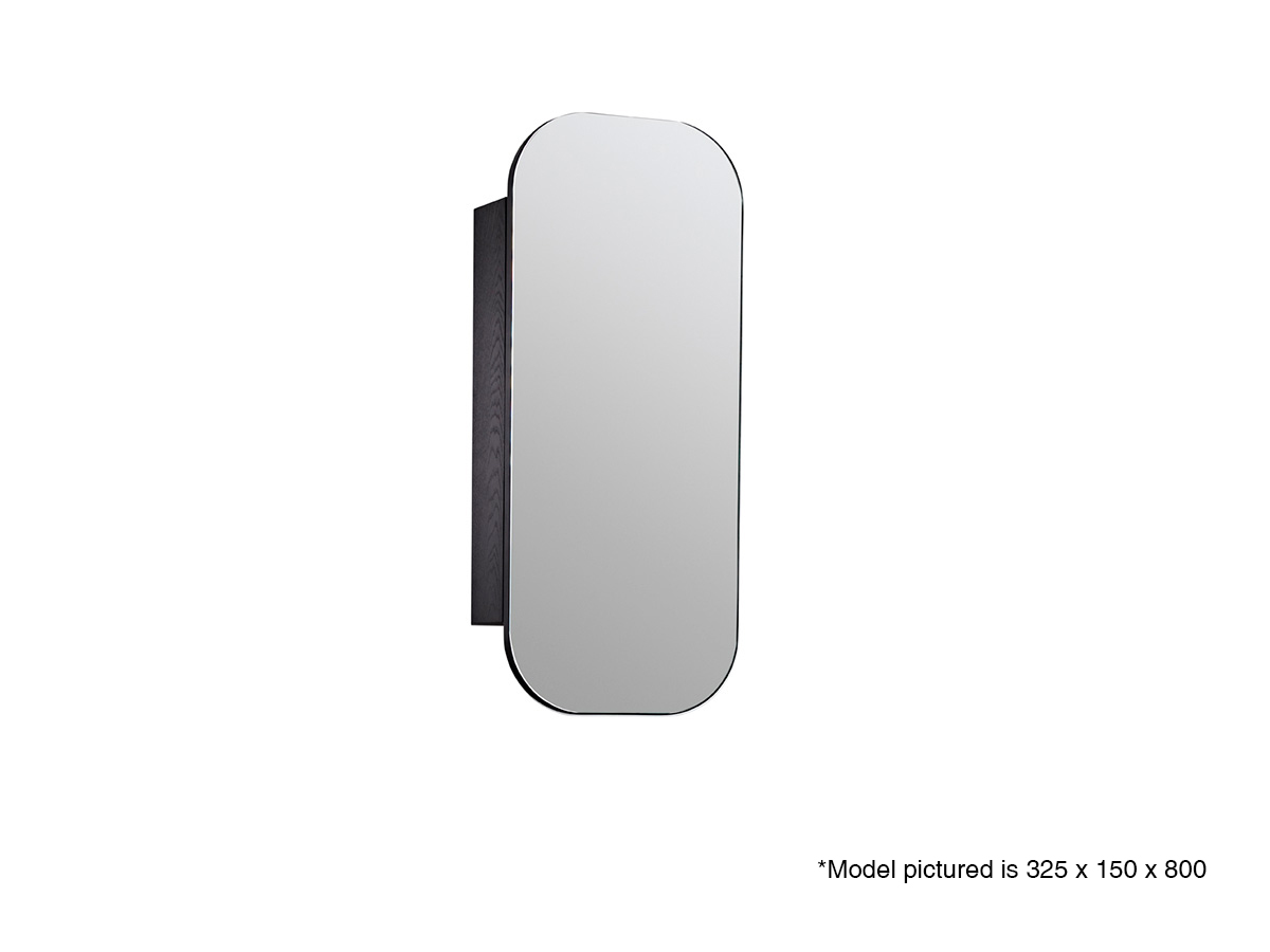 issy z1 ballerina 380 recessed oval mirror shaving cabinet