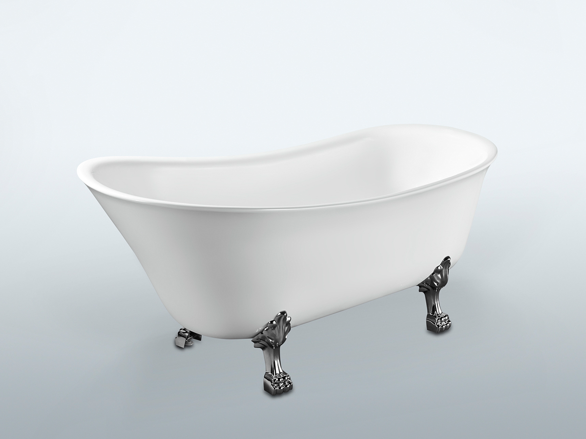 kado era 1700 freestanding bath claw foot reece