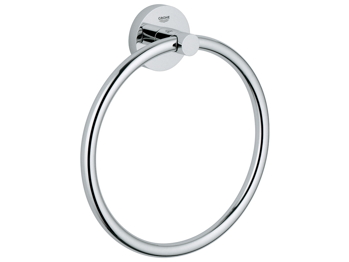 grohe essentials towel ring chrome 9506970 hero 1