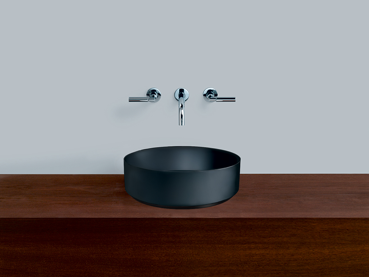 alape unisono counter basin black
