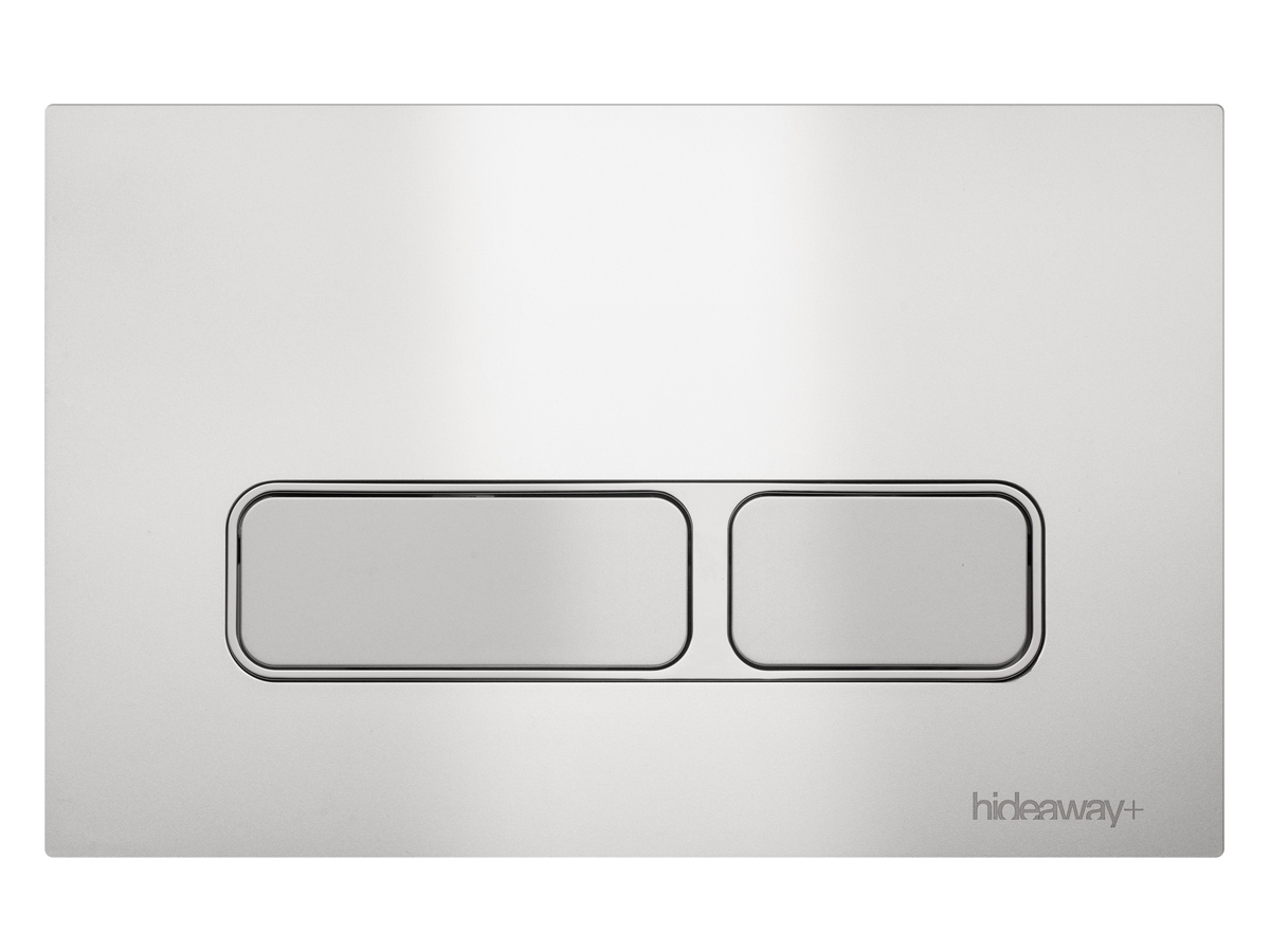 Hideaway Rectangle Push Plate toilet buttons