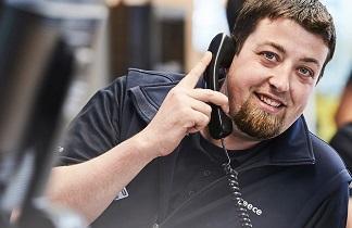 Reece employee talking on the phone